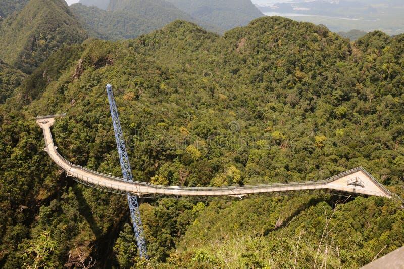 Ponte do céu de Langkawi imagem de stock