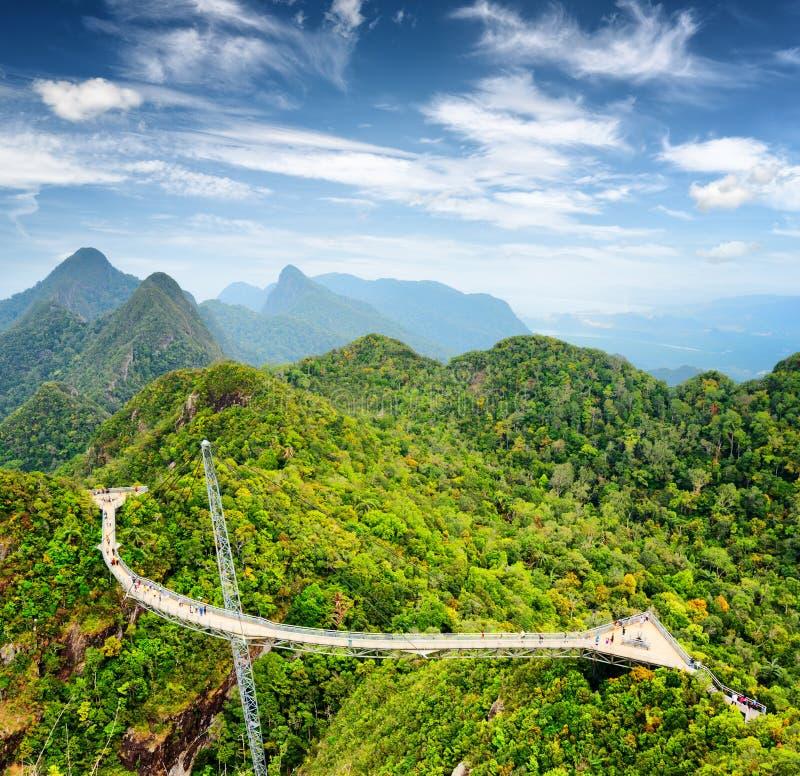 Ponte do céu de Langkawi em Malásia imagem de stock