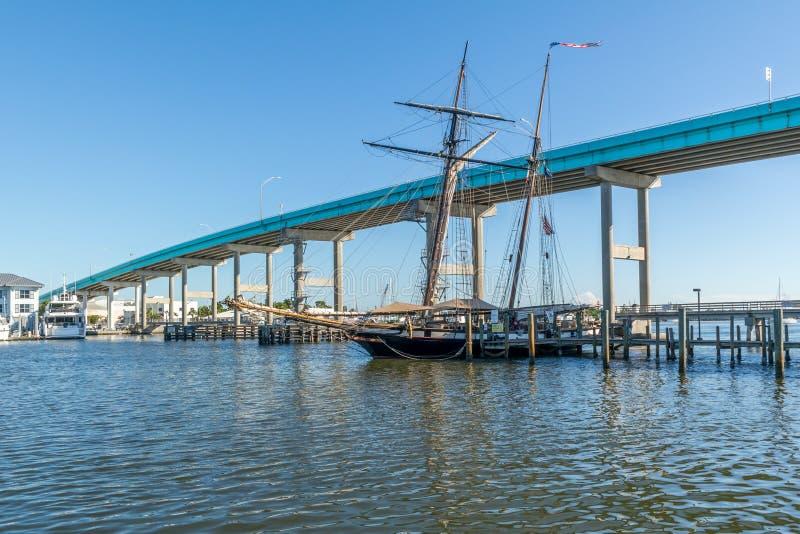 Ponte do céu no forte Myers Beach, Florida, EUA imagens de stock royalty free