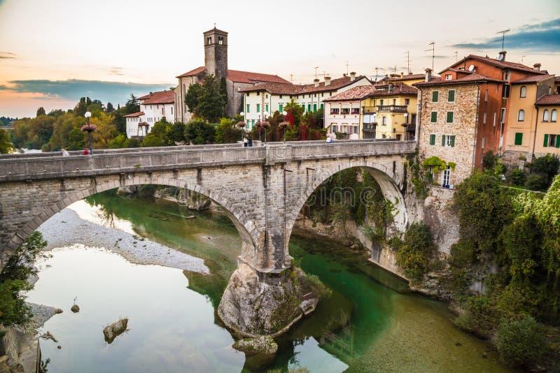 A ponte do diabo de Cividale del Friuli fotos de stock