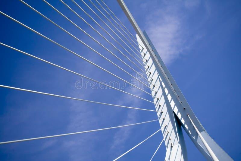 Ponte do Erasmus. Detalhes foto de stock