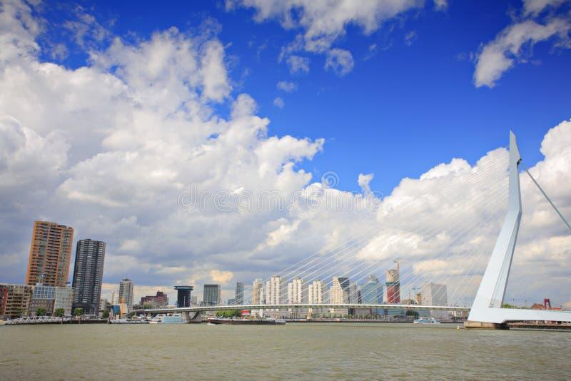 Ponte do Erasmus, Rotterdam foto de stock royalty free