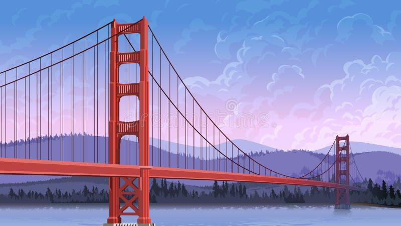 Ponte do ferro ilustração royalty free