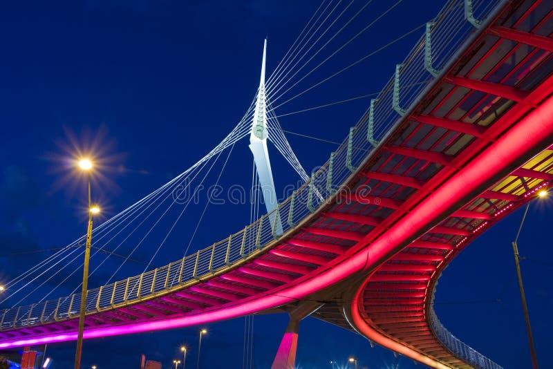 Ponte do fio fotografia de stock royalty free