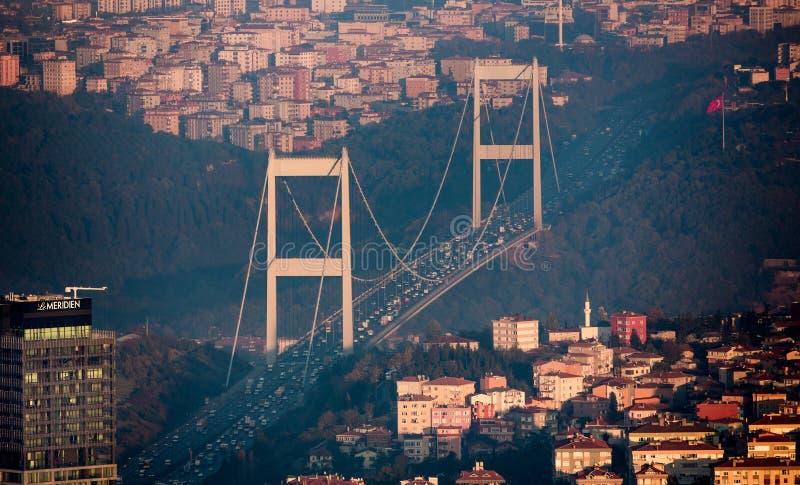 Ponte do FSM de Istambul foto de stock