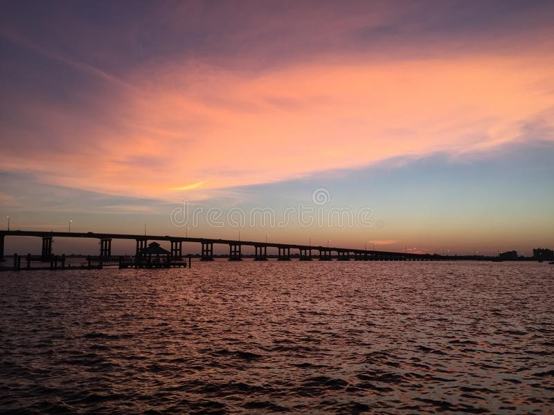 Ponte do Ft Myers FL imagens de stock