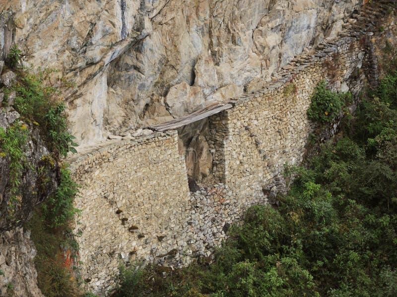 Ponte do Inca em Machu Picchu, Peru fotos de stock