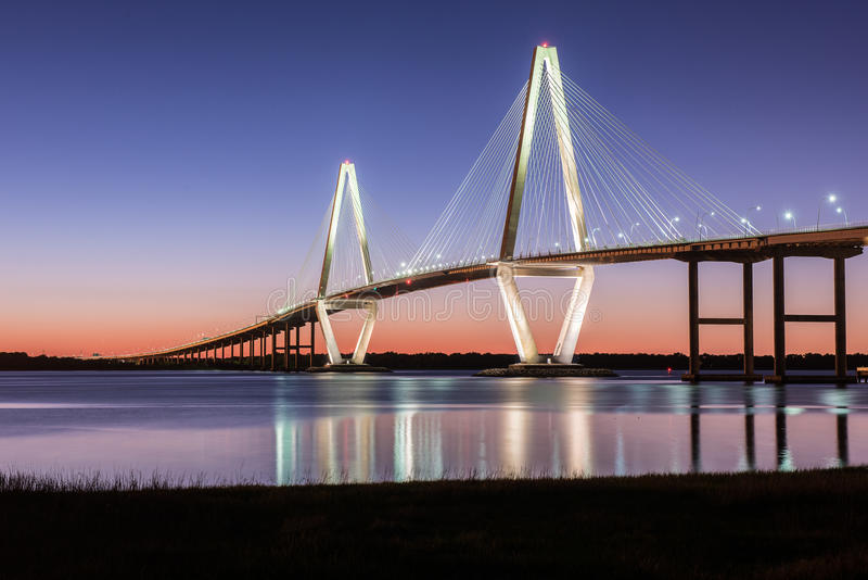 Ponte do Jr SC de Charleston da ponte imagem de stock
