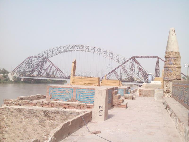Ponte do lancedown de Sukkur imagem de stock