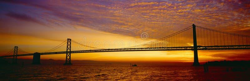 Ponte do louro no nascer do sol fotografia de stock royalty free