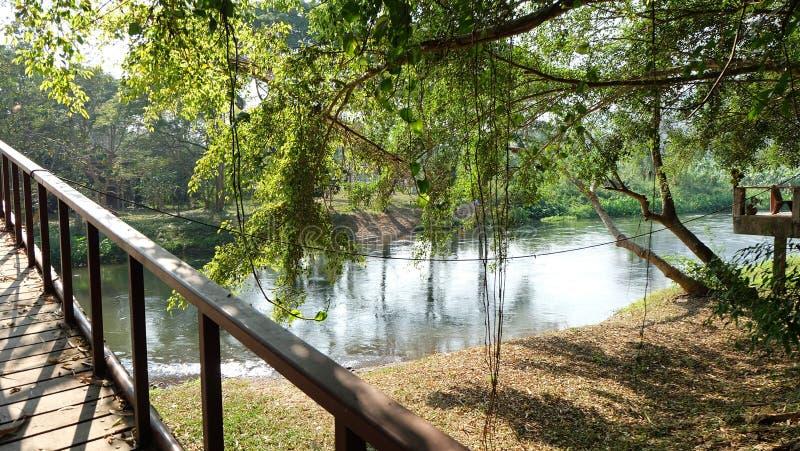 Ponte do rio imagens de stock