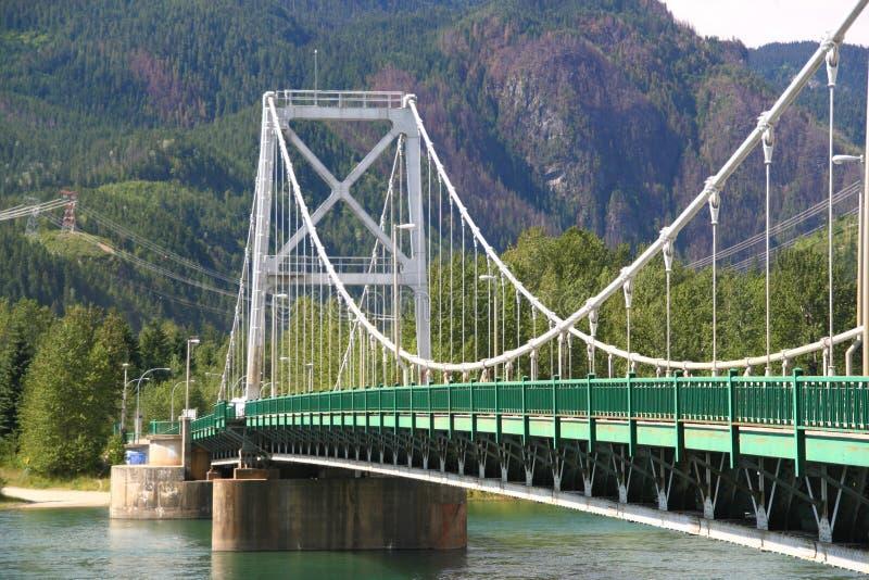 Ponte do rio de Colômbia fotografia de stock