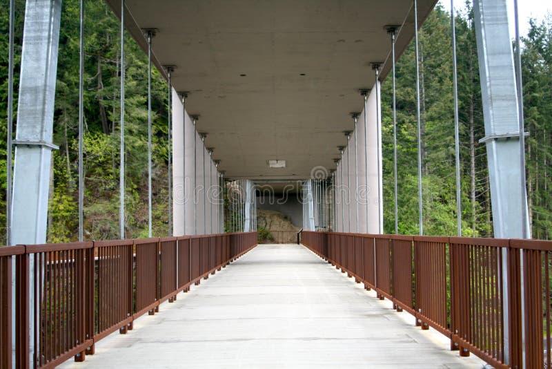 Ponte do rio de Elwha imagem de stock