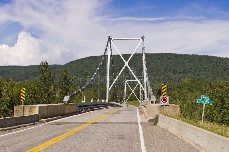 Ponte do rio de Liard imagem de stock