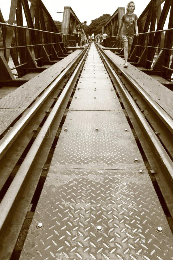 A ponte do rio Kwai imagem de stock royalty free