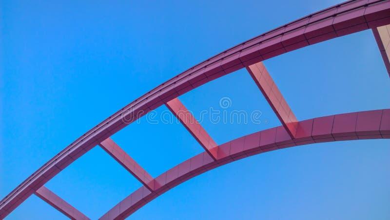 A ponte do rosa foto de stock