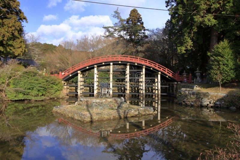 Ponte do santuário de Niutsuhime imagem de stock