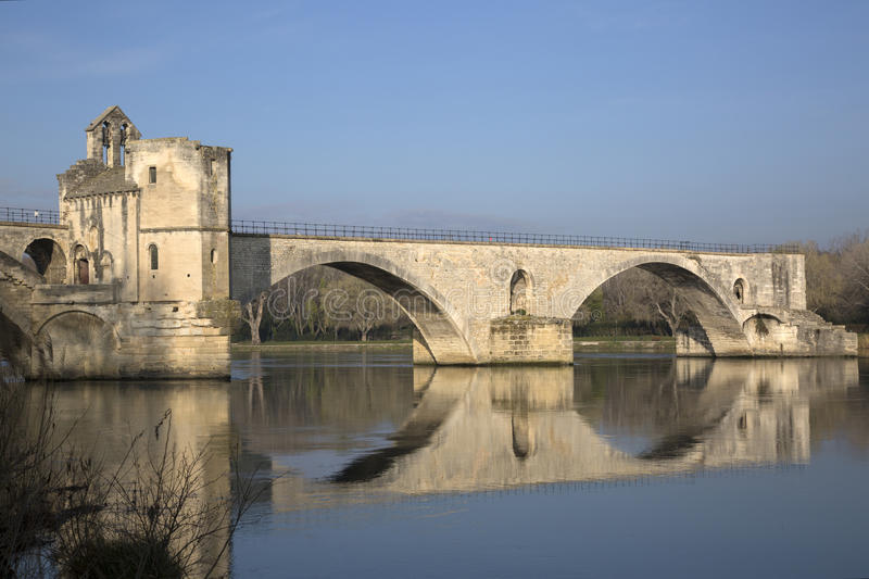 Ponte do St Benezet, Avignon fotos de stock
