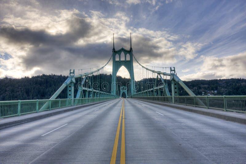 Ponte do St. John em Portland Oregon, EUA. fotografia de stock royalty free