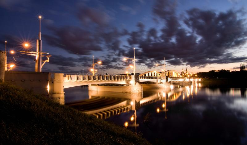 Ponte do St. Rocha em Poznan imagens de stock royalty free