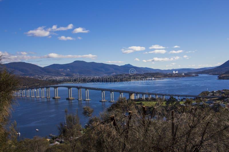 A ponte do tasman em Hobart fotografia de stock