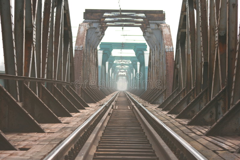 A ponte do trailroad foto de stock