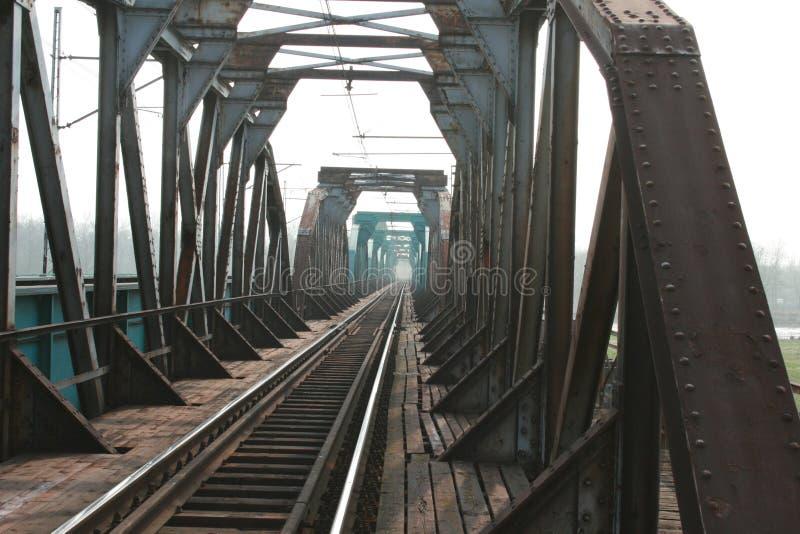 A ponte do trailroad fotografia de stock royalty free
