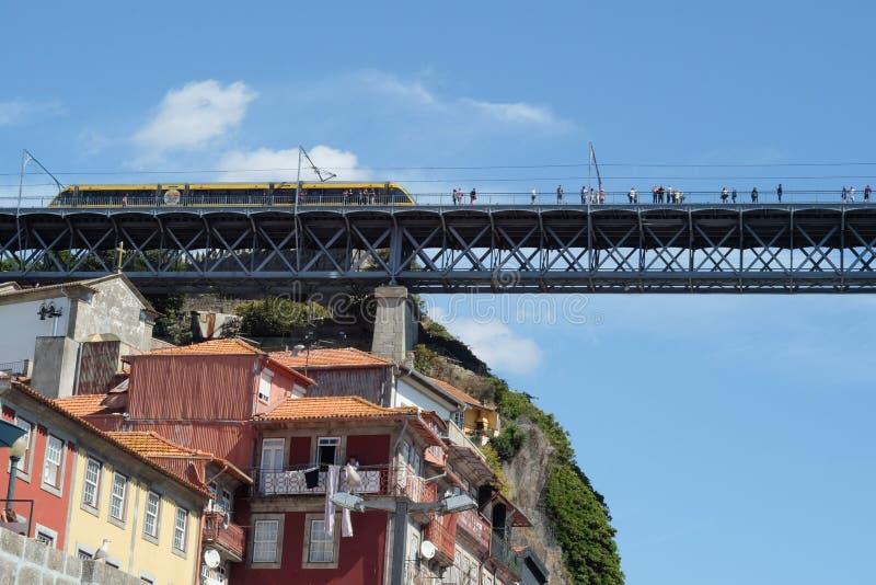 Ponte do trem de Porto imagem de stock