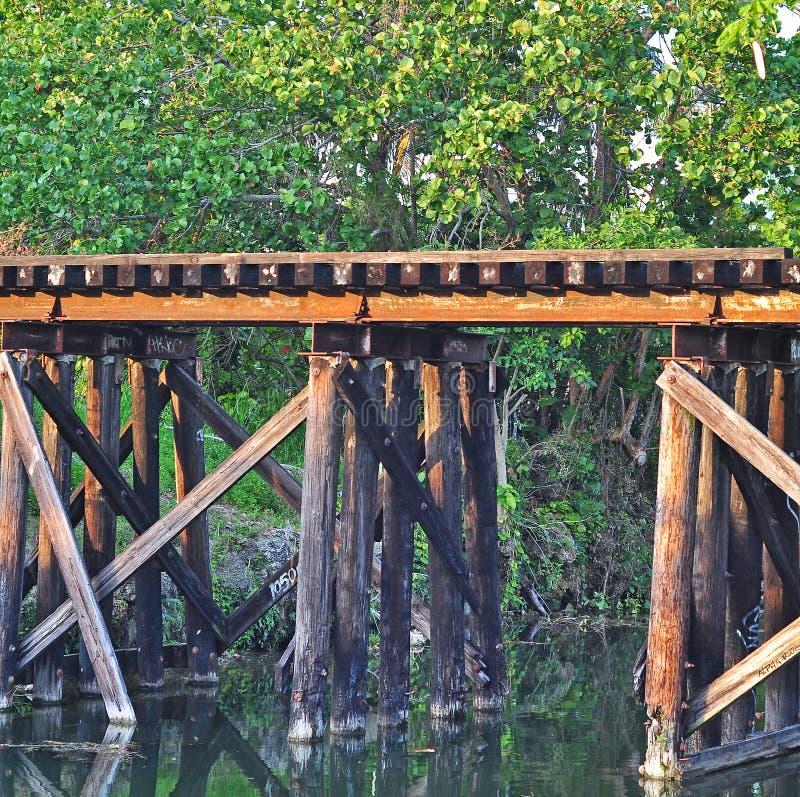 Ponte dois da estrada de ferro fotografia de stock royalty free