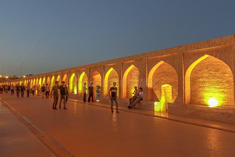 Ponte 04 dos arcos de Isfahan 33 imagem de stock royalty free