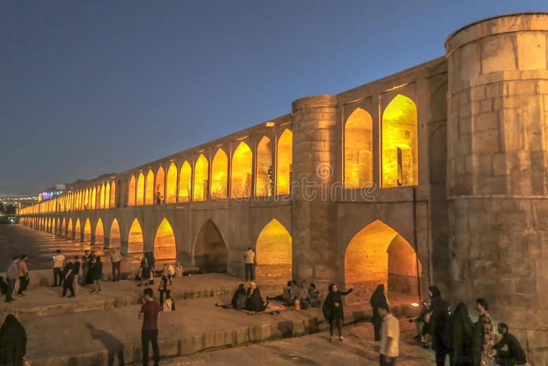Ponte 06 dos arcos de Isfahan 33 imagem de stock royalty free