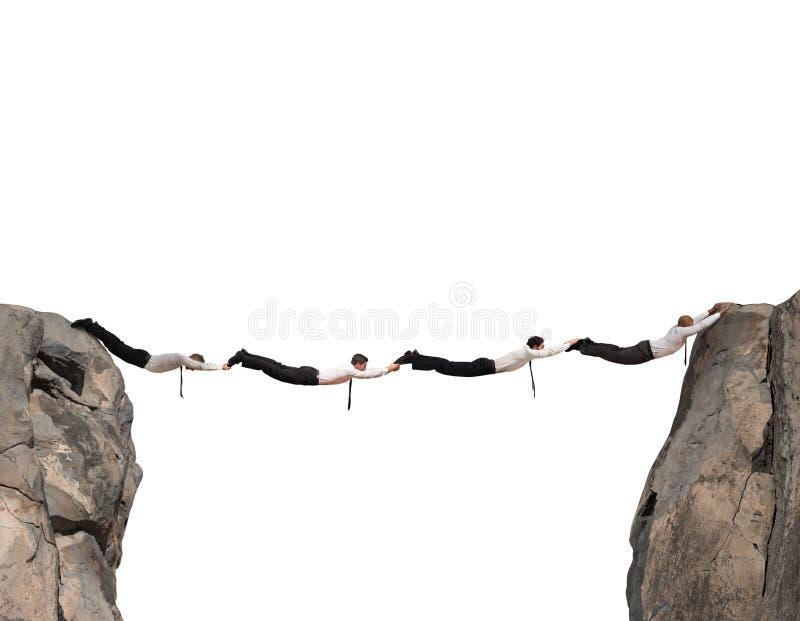 Ponte dos homens de negócio foto de stock