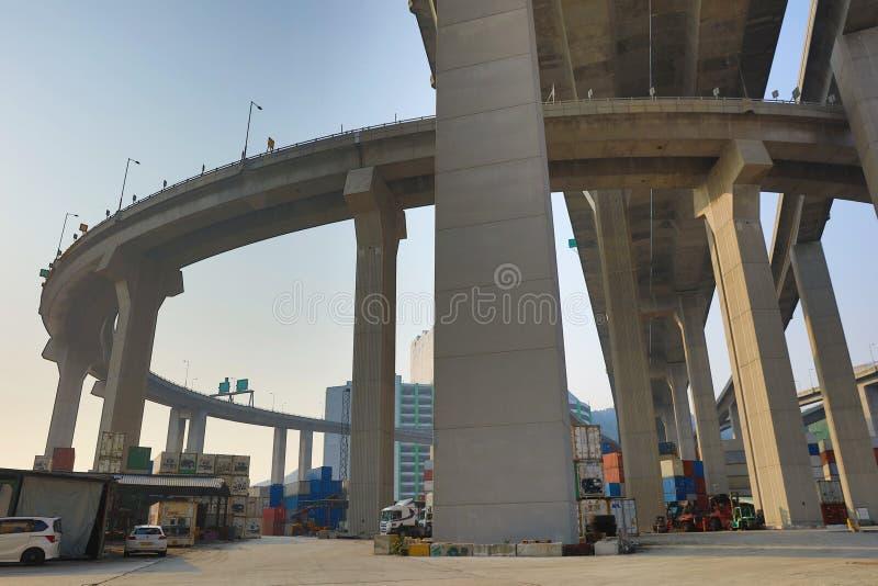 a ponte dos Stonecutters na HK imagem de stock royalty free