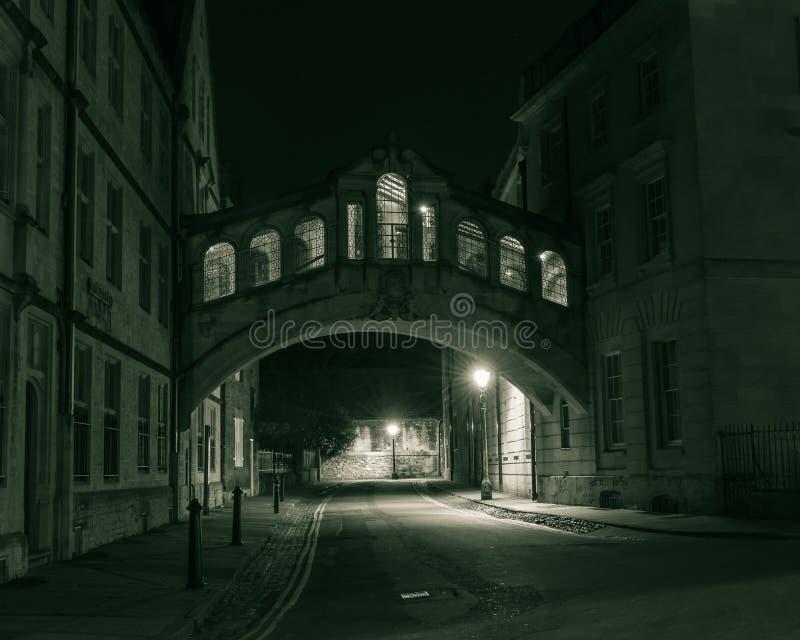 Ponte dos suspiros na noite imagem de stock royalty free