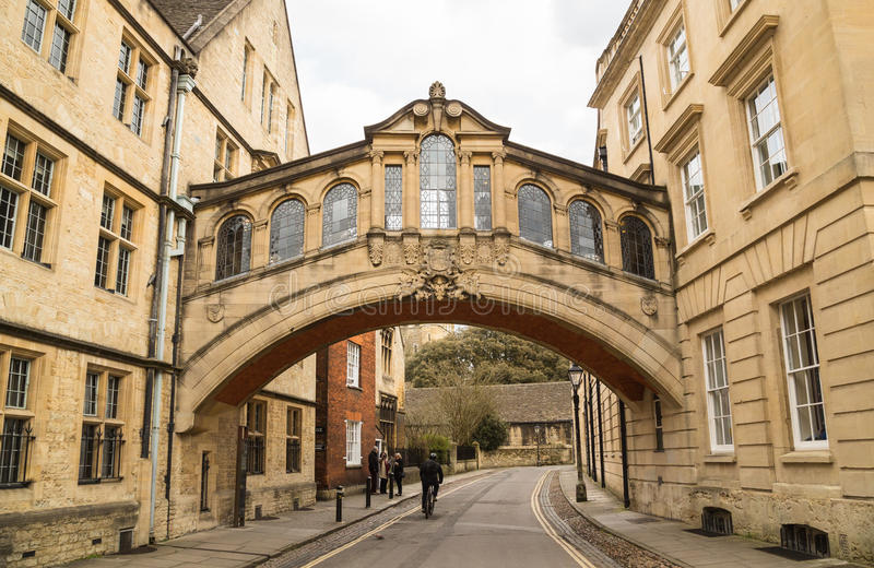 Ponte dos suspiros, Oxford imagem de stock