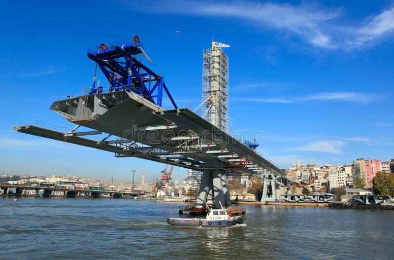 Ponte dourada do metro do chifre em Istambul, Turquia foto de stock royalty free