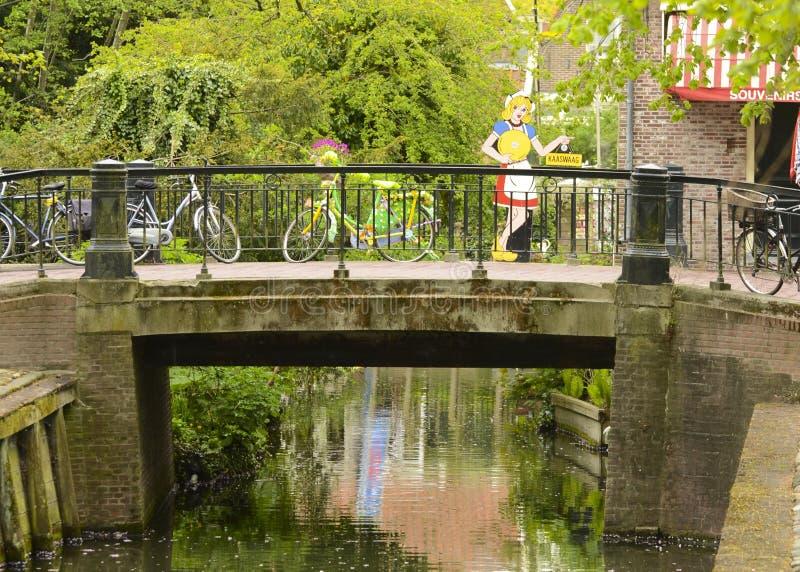 Ponte e bici nei Paesi Bassi immagine stock libera da diritti