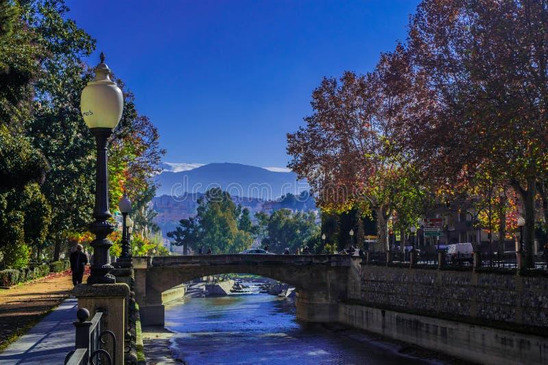 Ponte e montanhas imagem de stock royalty free