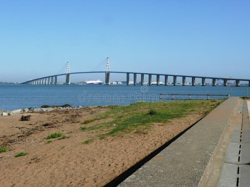 Ponte e porto do Saint Nazaire em Brittany imagem de stock royalty free