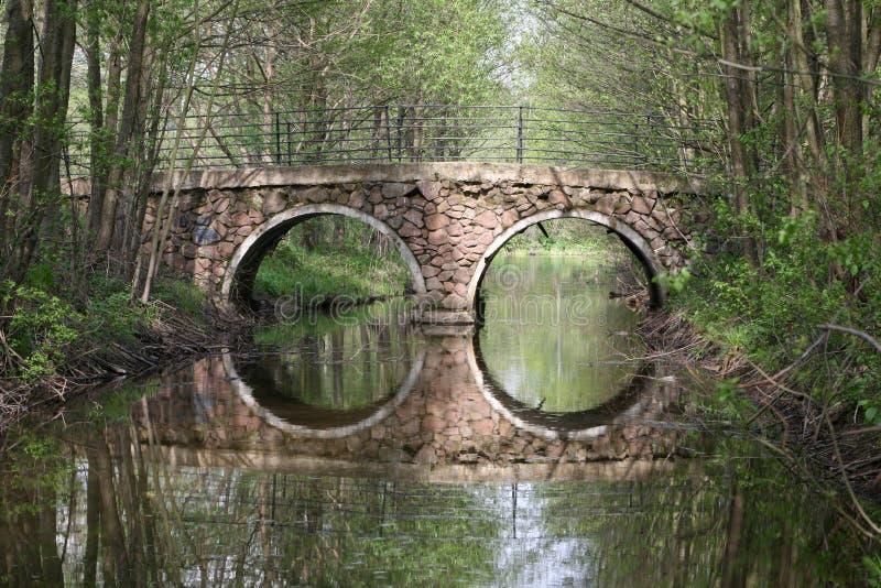 Ponte e reflexo imagens de stock