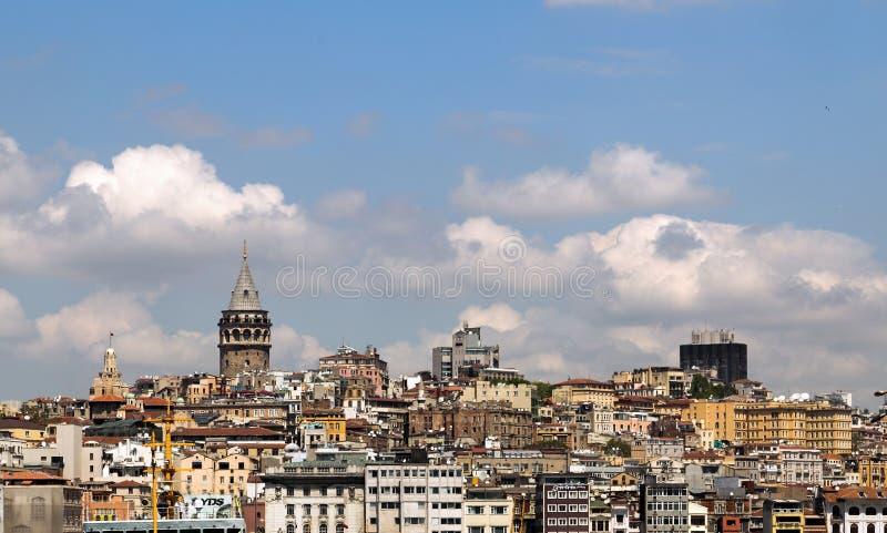Ponte e torre de Galata fotos de stock royalty free