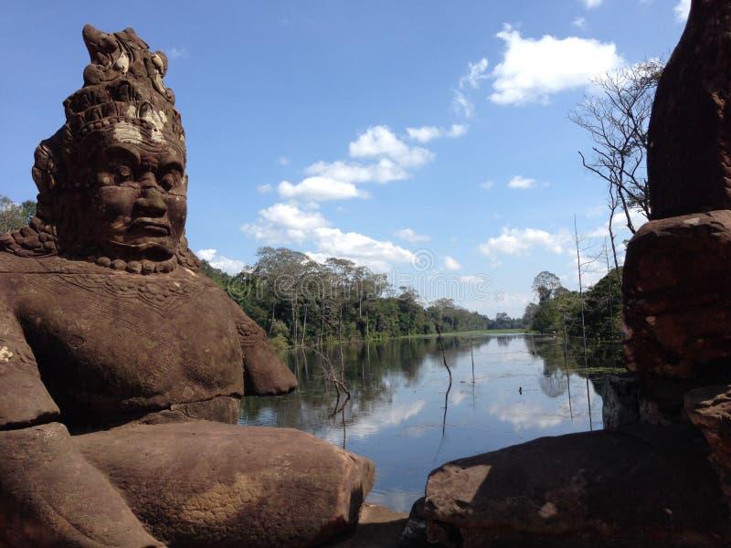 Ponte em Angor Wat, Camboja imagens de stock royalty free