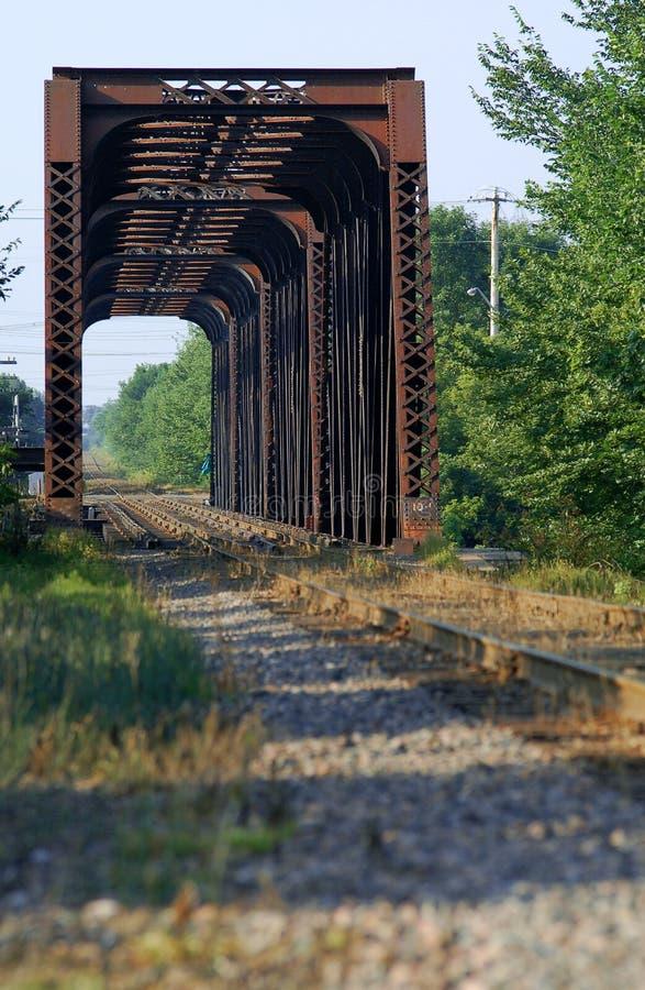 Ponte em iles do mille do DES do riviere, Canadá do trem imagens de stock royalty free