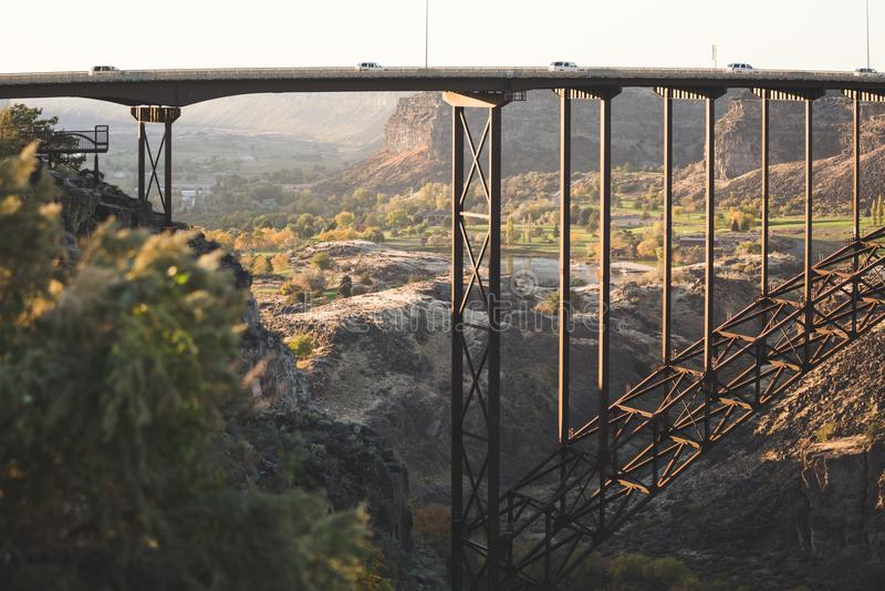 Ponte em quedas gêmeas, Idaho de Perrine fotografia de stock royalty free