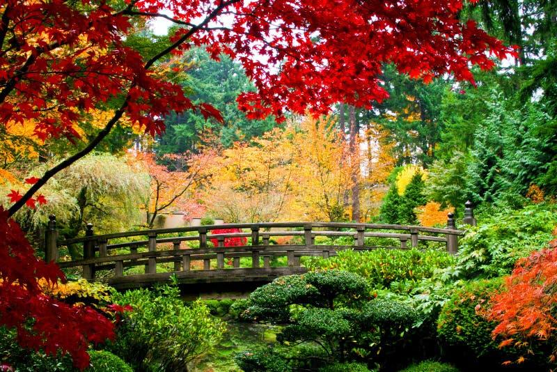 Ponte em um jardim fotografia de stock royalty free