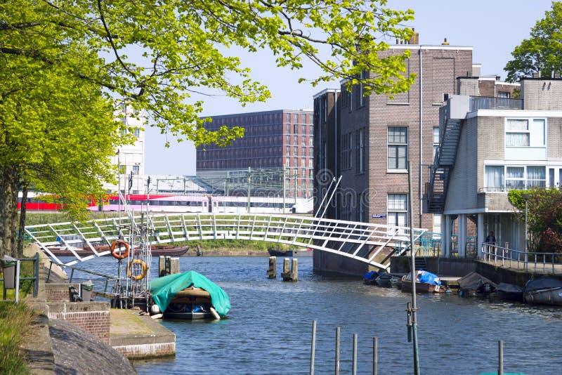 Ponte em Wittenburg, Amsterdão, Países Baixos foto de stock