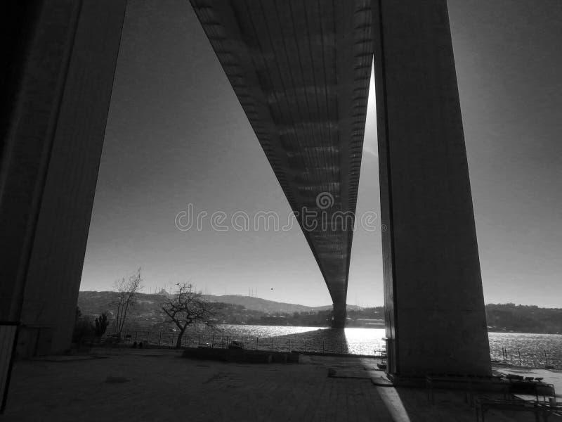 ponte Europa dos mártir de Bosphorus do istanbol fotografia de stock royalty free