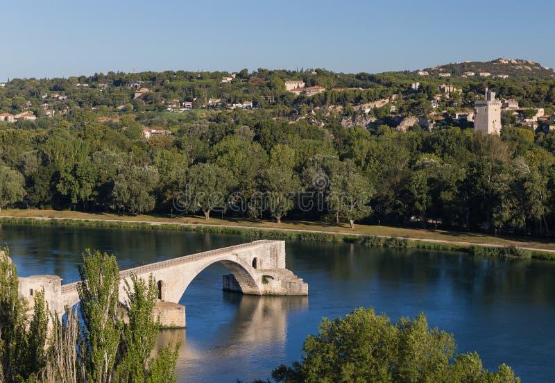 Ponte famosa em Avignon - Provence França imagens de stock