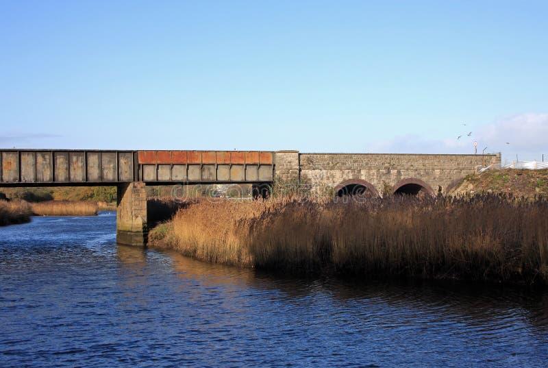 Ponte ferroviario immagine stock libera da diritti