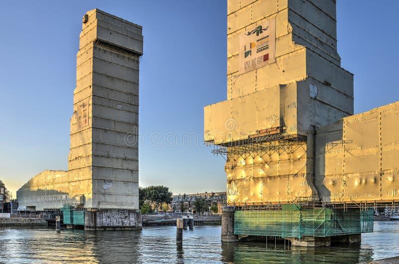 Ponte ferroviario monumentale in armatura fotografia stock libera da diritti